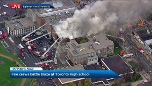 Fire chief provide update on second blaze at Toronto high school
