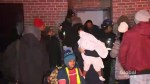 Building's power outage leaves hundreds seeking shelter from the cold