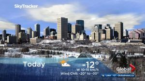 Edmonton early morning weather forecast: Friday, February 9, 2018