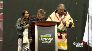 Lethbridge College president receives Blackfoot name at Indigenous Celebration Day
