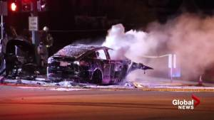 One dead after fiery Tesla crash in Coquitlam