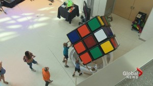 Calgarian creates what appears to be world's largest Rubik's cube
