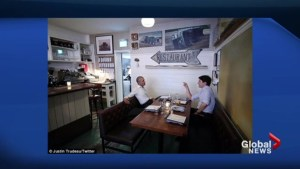 Obama and Trudeau have dinner in Montreal