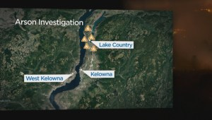 Police link nearly 30 arson wildfires in the Okanagan
