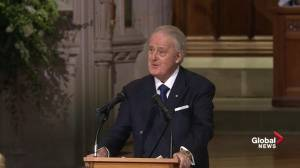 Former Canadian PM Brian Mulroney delivers eulogy for George H.W. Bush