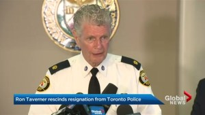 Ron Taverner rescinds resignation from Toronto police, returns to old job
