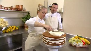 Cake designer Claire Ptak prepares the royal wedding cake