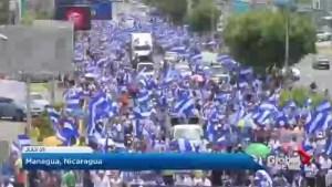 Protests against Nicaragua's president Daniel Ortega