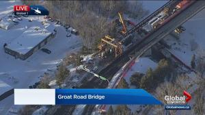 Groat Road Bridge closed due to construction crane incident