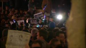 Raw video: Thousands gather in Paris in support of shooting victims
