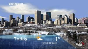 Edmonton early morning weather forecast: Wednesday, December 12, 2018