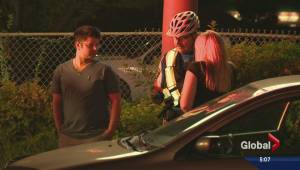 Cyclist struck by car on Harvey Avenue (00:37)