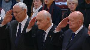Colin Powell pays tribute to George H.W. Bush at Capitol