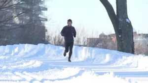 Winter running in Montreal