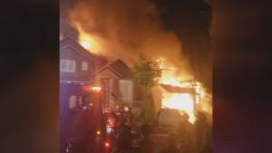 Fire forces two Surrey families from their homes