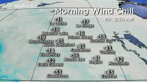 Saskatoon weather outlook: -40 to -50 wind chills settle in