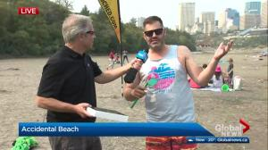 630 CHED hosts beach party at accidental beach