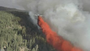 Aerial attack on Finlay Creek Fire