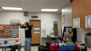Kindergarten class learns to sign 'Happy Birthday' for hearing impaired custodian