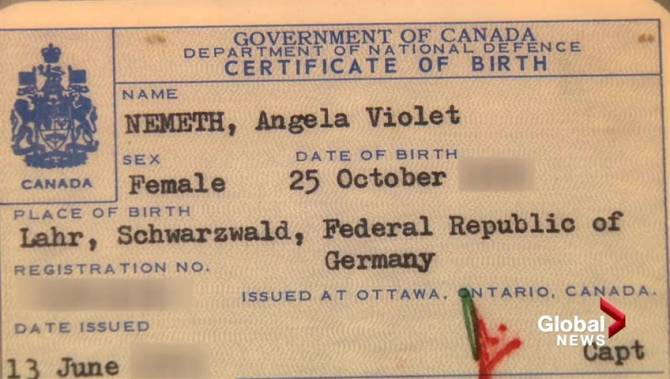 Calgary womans canadian birth certificate not recognized as proof watch above a birth certificate is supposed to be required id to get a canadian passport but for many people born in military families outside the ccuart Gallery