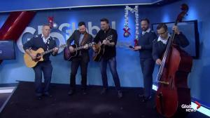 Royal Canadian Air Force Band and Doc Walker perform holiday song