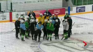 Saskatchewan Huskies women's hockey team 1st to compete at Merlis Belsher Place