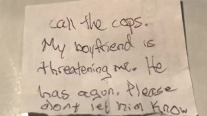Woman slips note to veterinary staff asking them to save her from abusive boyfriend: Police