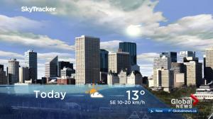 Edmonton early morning weather forecast: Friday, April 20, 2018