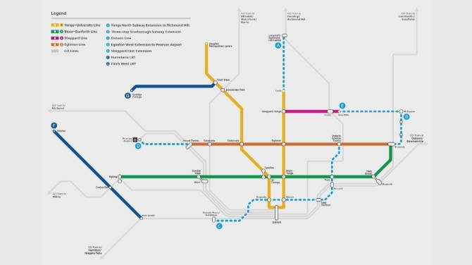 Ttc Subway Map 2025.Doug Ford Says Ontario Could Foot Whole 28 5b Bill For Greater