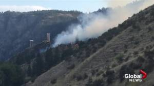 Okanagan Falls wildfire grew to seven hectares very quickly on Friday afternoon