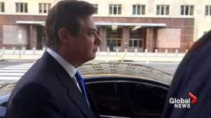 Manafort quiet as he surrenders to federal authorities