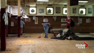 Stampede volunteers clean up Calgary Legion