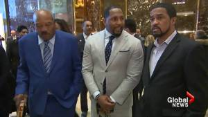 Former NFL stars Jim Brown, Ray Lewis hold 'fantastic' meeting with Trump on African American issues