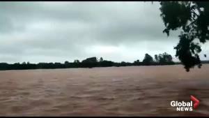 Indian navy responds after massive flooding displaces thousands