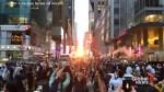 Thousands gather in New York to witness 'Manhattenhenge'