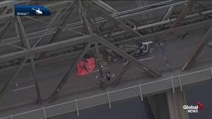 Low Level Bridge closed after collision kills 1, injures 2 others (02:27)