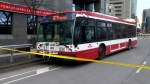 Woman fatally struck by TTC bus in downtown Toronto