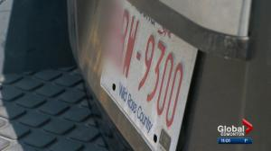 Tension mounts over licence plate issue involving Alberta and Saskatchewan