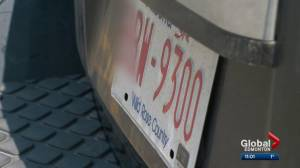 Tension mounts over licence plate issue involving Alberta and Saskatchewan (01:59)