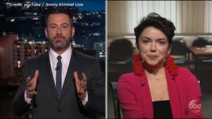 'The Bachelor' star Bekah Martinez telly Jimmy Kimmel why her mother reported her as missing