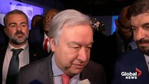 UN chief says its 'essential' to avoid escalation in the Gulf (00:20)