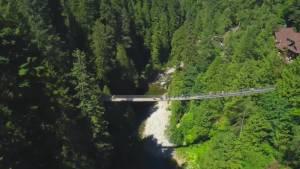 Squire Barnes on the history of the Capilano Suspension Bridge