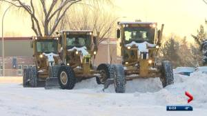 Albertans asked to be careful while driving near workers clearing snow off roads