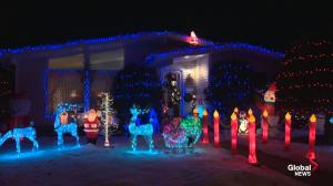 Edmonton couple's Christmas display vandalized twice