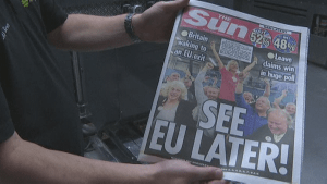 Brexit vote dominates UK newspaper front pages