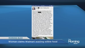 Woman attempts to shame Walmart into donating unused food