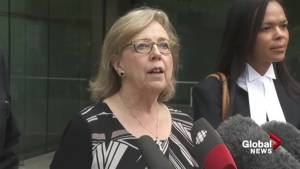 Elizabeth May outside courthouse after pleading guilty for role in Kinder Morgan protest