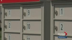 Calgary Postal workers go door to door to remind Calgarians of Liberal election promise