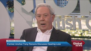Former Global BC anchor Tony Parsons discusses his hearing loss