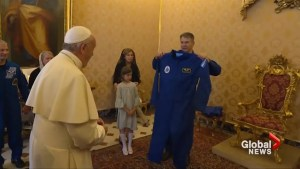 Pope Francis receives very own customized astronaut suit